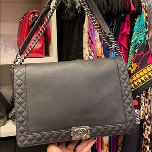 Chanel Boy Jumbo Black Crossbody
